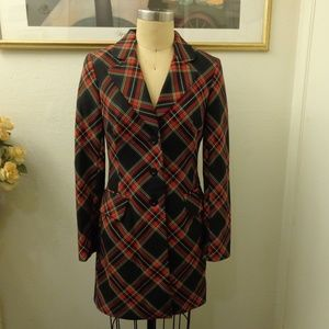 A.B.S By Allen Schwartz Plaid Trench Coat